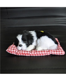 Black White Simulation Animal Doll Plush Sleeping Dogs